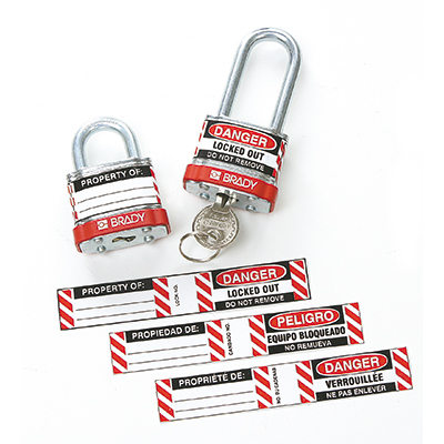 Labels for Padlocks