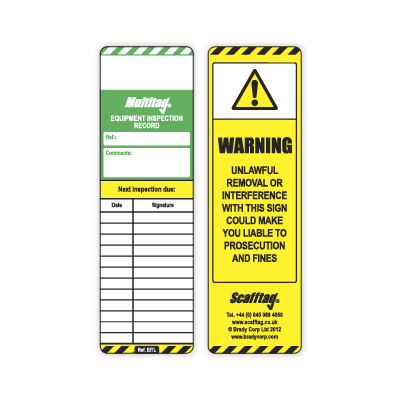 Machinery Tag Inserts