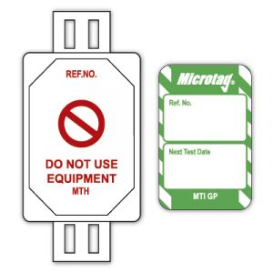 Microtag® Tag for Electrical Equipment - Next Test Date (Pack of 20)