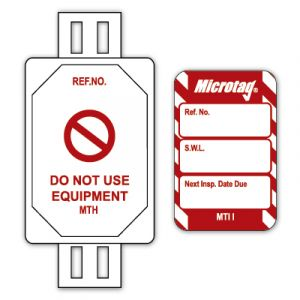 Microtag® Tag for Lifting Equipment - SWL Next Inspection Date Due (Pack of 20)