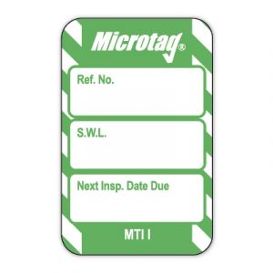 Microtag® Inserts - Safe working load (SWL) Next Inspection Date Due