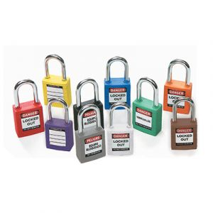 Safety Padlocks with Steel Shackle (Pack of 6)