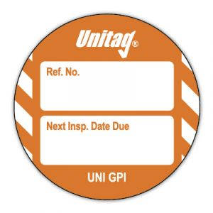 Unitag® Inserts - Next Inspection Date Due