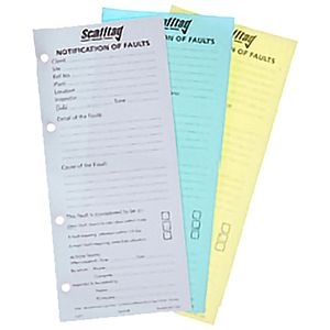 The Blue Book for Scaffolding - Notification of faults