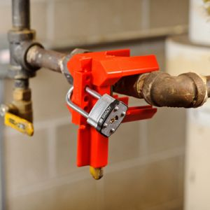 Ball Valve Lockout - Red (Small)