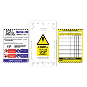 Covid-19 Cleaning Compliance Tag (1 holder / 5 inserts)