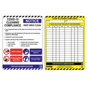 Covid-19 Cleaning Compliance Tag Single Insert