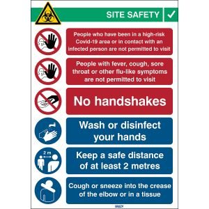 COVID-19 Reception Safety Sign