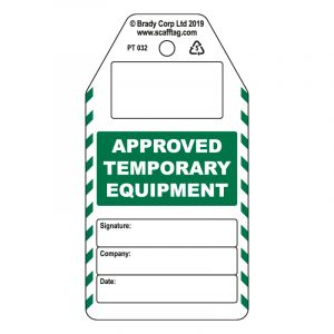 Approved Temporary Equipment tag (Pack of 50)