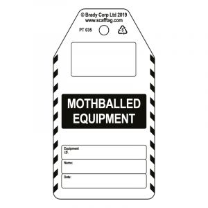 Mothballed Equipment tag (Pack of 50)
