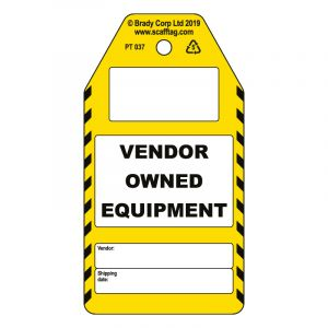Vendor Owned Equipment tag (Pack of 50)