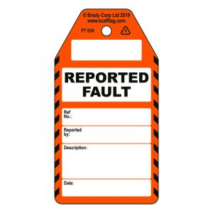 Reported Fault tag (Pack of 50)