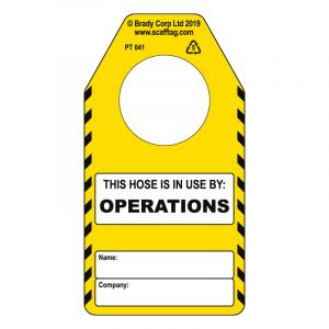 Hose (operations) tag (Pack of 50)