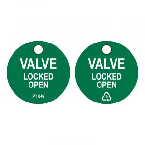 Valve Locked OPEN tag (Pack of 50)