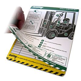 Forkliftag Daily Inspection Booklet