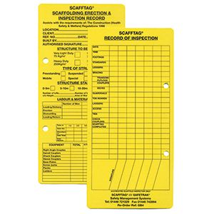 Green Book - Scaffold Record Cards