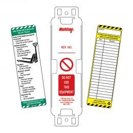 Pallet Truck Tag (5 holders & 10 inserts)