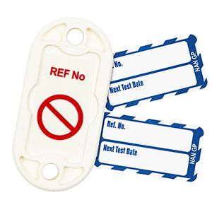 """Nanotagâ""""¢ Tag for Steps & Stools - Next Test Date (Pack of 20)"""