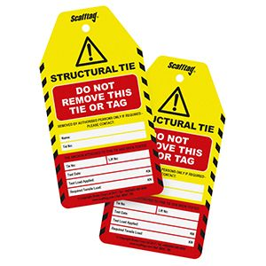 Structural Tie Test Tag (Pack of 50)